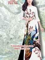 Vải áo dài chim công AD TNAD 793