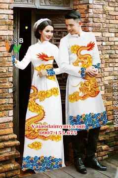 Vải Áo dài nam nữ hình rồng AD IW 73