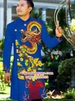 Áo dài nam hình rồng AD IW 85