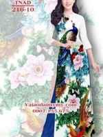 Vải áo dài chim công AD TNAD 216