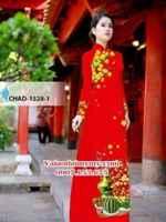 Vải áo dài hoa mai đón tết AD CHAD 1528