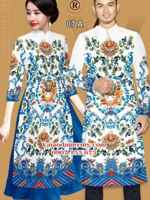 Vải áo dài hoa văn rực rỡ AD IW 07
