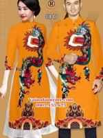 Vải áo dài cặp đôi rồng AD IW 08