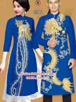 Vải áo dài rồng phụng AD IW 05