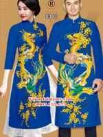 Vải áo dài cặp đôi hình rồng AD IW 03