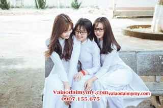 may áo dài trắng đẹp cho học sinh