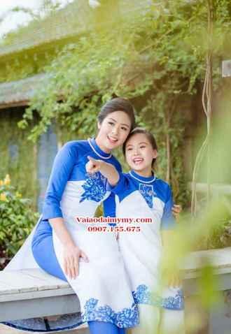 thiết ké và may áo dài mẹ và con