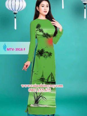 Vải áo dài phong cảnh AD MTV 3916