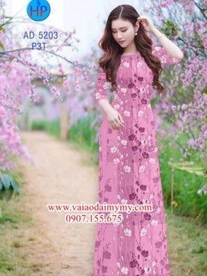 Vải áo dài Hoa Đào AD 5203