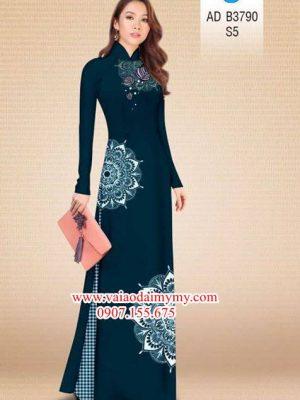 Vải áo dài Hoa văn kết hợp sọc tinh tế và hiện đại AD B37900