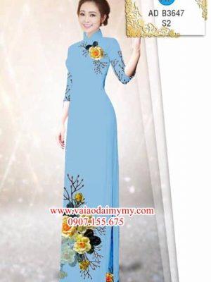 Vải áo dài Hoa hồng AD B3647