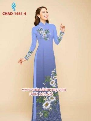 Vải áo dài hoa cúc AD CHAD 1481