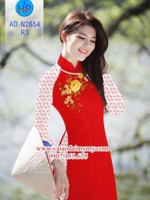 Vải áo dài Đẹp xinh với quần hoa nhí AD N2654