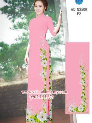 Vải áo dài Hoa Đào AD N2509