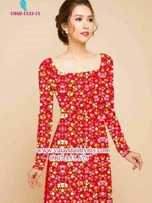 Vải áo dài hoa nhí AD CHAD 1533
