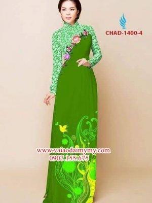 Vải áo dài hoa đẹp AD CHAD 1400