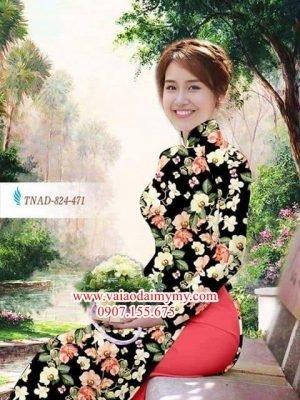 Vải áo dài hoa đều AD TNAD 824