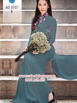 Vải áo dài Hoa in 3D AD 3727