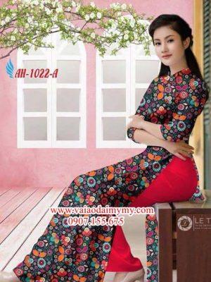 Vải áo dài hoa nhí đều AD AH 1022