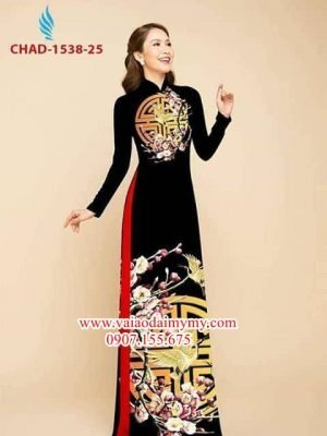Vải áo dài hoa đào AD CHAD 1538