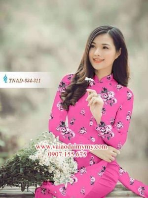 Vải áo dài hoa đều AD TNAD 834