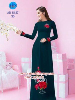 Vải áo dài Hoa hồng 14/2 AD 5187