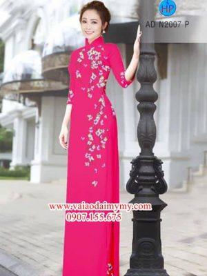 Vải áo dài Hoa Đào nhẹ xinh AD N2007