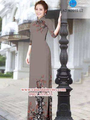 Vải áo dài Hoa Đào AD N2015