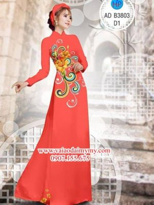 Vải áo dài Hoa văn và hoa ly AD B3803
