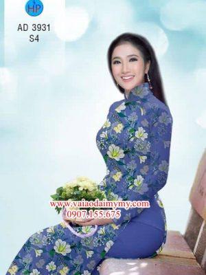 Vải áo dài Hoa đều AD 3931