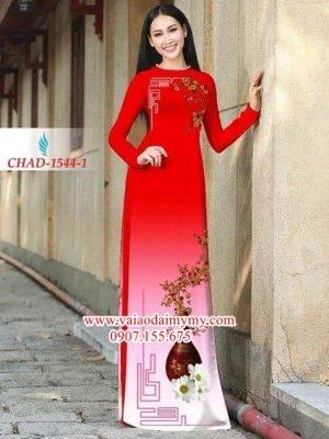 Vải áo dài hình hoa đẹp AD CHAD 1544