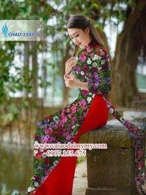 Vải áo dài hoa đều AD CHAD 1547