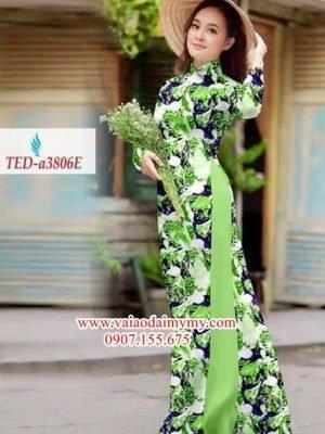 Vải áo dài hoa đều AD TED a3806