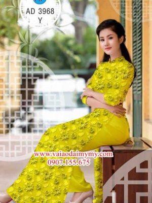 Vải áo dài Hoa đều đẹp xinh AD 3968