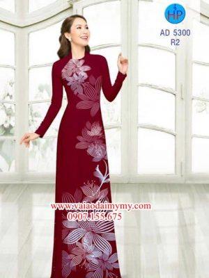 Vải áo dài Hoa in 3D AD 5300