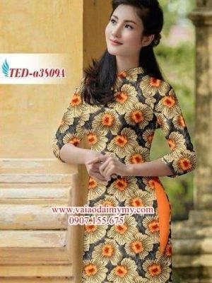Vải áo dài hoa đều AD TED a3809