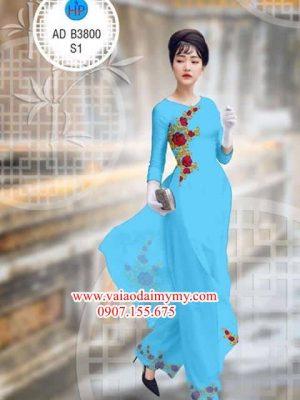 Vải áo dài Hoa hồng AD 3800