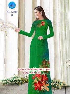 Vải áo dài Hoa Râm Bụt AD 5236