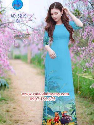 Vải áo dài Quê hương tuổi thơ AD 5219