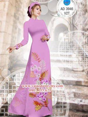Vải áo dài Hoa in 3D AD 3946