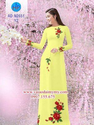 Vải áo dài Hoa hồng AD N2651