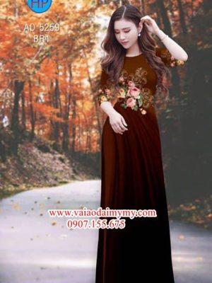 Vải áo dài Hoa hồng AD 5259
