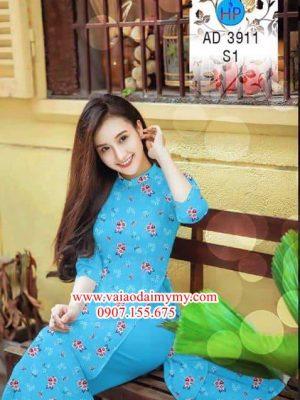 Vải áo dài Hoa nhỏ xinh AD 3911