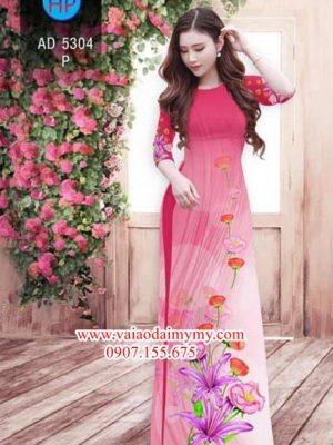 Vải áo dài Hoa Ly, Cát Tường AD 5304