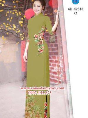 Vải áo dài Hoa Đào AD N2513
