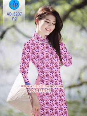 Vải áo dài Hoa Đào AD 5207