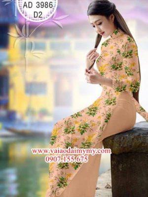 Vải áo dài Hoa đều dễ thương và dịu dàng AD 3986