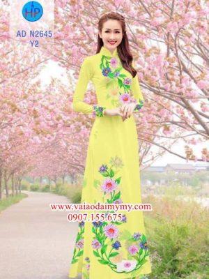 Vải áo dài Hoa Cúc AD N2645
