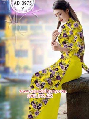 Vải áo dài Hoa đều AD 3975