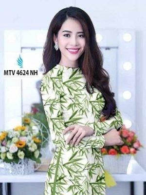 Vải áo dài hình lá trúc AD MTV 4624